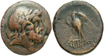 Ancient Coins - Pontos, Kabeira. Under Mithradates VI of Pontos. Ca. 111-105 or 95-90 B.C. Æ. Near VF, brown patina.