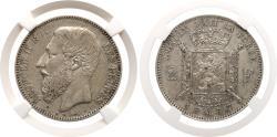 World Coins - Belgium. Leopold II (1835-1909) 2 Francs 1867. NGC AU 53