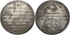 World Coins - Austria, Salzburg. Max Gandolph von Küenburg. Archbishop, 1668-1687. AR dreifacher dukaten. 1682. Good VF, toned.