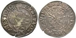 World Coins - Germany, Passau. Wigileus Fröschl von Marzell. 1516. AR Batzen. VF. Very rare.