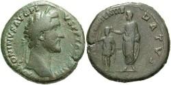 Ancient Coins - Antoninus Pius. A.D. 138-161. Æ sestertius. Fine, green patina.