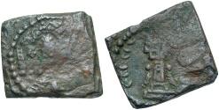 Ancient Coins - Alchon Huns. Ca. A.D. 400. Æ. Fine/VF, brown patina.