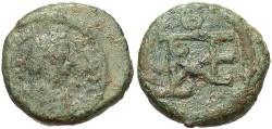 Ancient Coins - Justinian I. 527-565. Æ pentanummium. Cherson. Fine/VF, green patina.