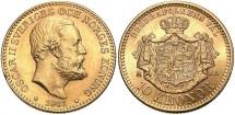 World Coins - Sweden. Oscar II. 1901. AV 10 Kroner. Unc.