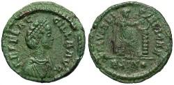 Ancient Coins - Aelia Flaccilla. Augusta, A.D. 379-386/8. Æ 13 mm. Good VF, nice green patina.
