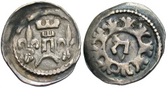 World Coins - Hungary. Bela IV. 1235-1270. AR denar. VF, toned. Very nice.