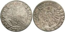 World Coins - Poland. Sigismund III. 1606. AR Grosz. Fine.