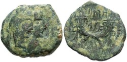Ancient Coins - Nabataean Kingdom. Malichus II. A.D. 40-71. Æ 16 mm. Near VF, green patina.