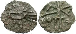 Ancient Coins - Sarmatia, Imitating Rome. Mid 2nd century A.D. Æ. Imitating Rome. VF, green patina.