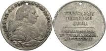World Coins - Germany, Bavaria. Karl Teodor. 1782. AR Medal. Toned VF, holed for suspension.