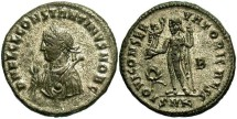 Ancient Coins - Constantine II, as Caesar. 316-337 AD. Silvered AE3. Cyzicus.