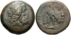 Ancient Coins - Ptolemaic Kingdom. Ptolemy II. 285-246 B.C. Æ 19 mm. Tyre. VF, brown patina