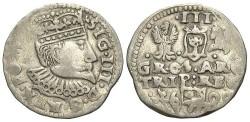 World Coins - Poland. Sigismund III. 1600. Imitation 3 Groszen. VF.