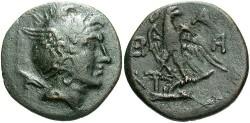 Ancient Coins - Macedonian Kingdom. Perseus. 179-168 B.C. Æ 23 mm. VF, dark green patina.