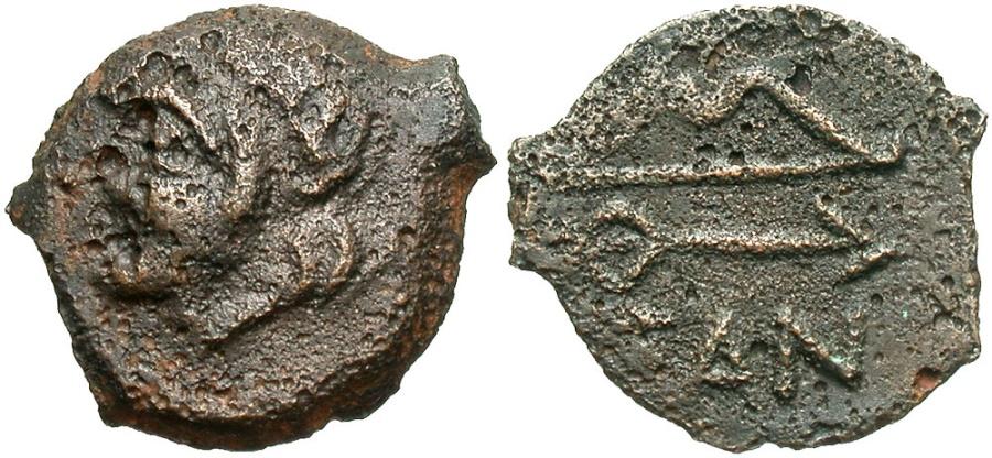 Ancient Coins - Cimmerian Bosporos, Pantikapaion. Ca. 304/3-250 B.C. Æ. VF, brown patina.