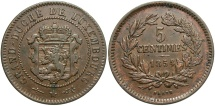 World Coins - Luxembourg. 1854. 5 centimes. EF.