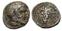 Ancient Coins - Cilicia, Soloi. Ca. 385-350 B.C. AR 1/3 obol. Good VF.