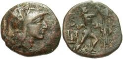 Ancient Coins - Macedonian Kingdom. Antigonos II Gonatas. 277-239 B.C. Æ 18 mm. VF, brown patina.