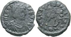 Ancient Coins - Leo I. A.D. 457-474. Æ. Constantinople. Near VF, black patina.
