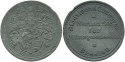 World Coins - Poland, Wroclaw. 1921. AL Token. VF.