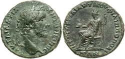 Ancient Coins - Thrace, Philippopolis. Antoninus Pius. A.D. 138-161. Æ. Gargilius Anticus, governor. Good VF, dark green patina.