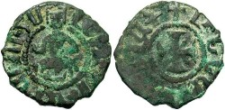 Ancient Coins - Armenian Kingdom. Levon III. 1301-1307. Æ kardez. Fine, dark brown patina with green highlights.