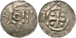 World Coins - Lowlands, Nijmegen. Ca. A.D. 1000. AR denier. Imitating Otto I of Cologne. VF.