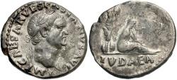 Ancient Coins - Vespasian. A.D. 69-79. AR denarius. Rome, A.D. 71. Nearly EF.