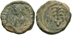 Ancient Coins - Maurice Tiberius. A.D. 582-602. Æ pentanummium. Carthage. Near VF, green patina. Rare.