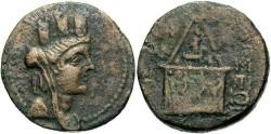 Ancient Coins - Cilicia, Tarsus, Antiochus IV. 174-164 B.C.. Æ 24 mm. VF/Fine.