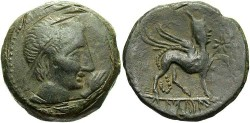 Ancient Coins - Spain, Castulo. Late 2nd century B.C. Æ 28 mm. VF, dark green patina. Very nice for the type.