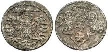 Danzig. 1598. Denar. VF.