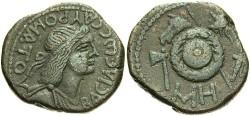 Ancient Coins - Bosporan Kingdom. Sauromates I. A.D. 93-124. Æ 24 mm. Ca. A.D. 108-115. VF, brown patina.