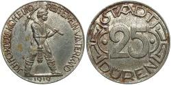 World Coins - Germany, Duren. 1919. 25 pfennig. EF.