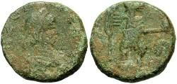 Ancient Coins - Zeno, second sole reign. A.D. 471-491. Æ 15 mm. Fine.