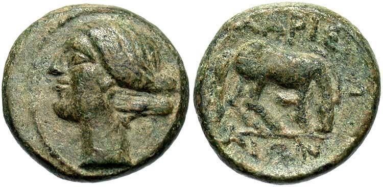 Ancient Coins - Thessaly, Larissa. Ca. 400-344 B.C. ' 12 mm. Good VF.