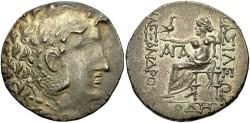 Ancient Coins - Macedonian Kingdom. Alexander III. 336-323 B.C. AR tetradrachm. Odessos, ca. 125-70 B.C. Toned, good VF, obverse softly struck.