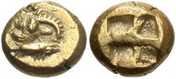 Ancient Coins - Mysia, Kyzikos. Ca. 550-500 B.C. EL hekte. Near EF.
