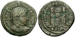 Ancient Coins - Constantine I. A.D. 307-337. Æ reduced follis. Siscia, ca. A.D. 318. Near VF.