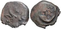 World Coins - Moldova. Alexander I. 1400-1432. Æ pulo. Crude VF, brown patina.