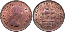 World Coins - South Africa. 1955. 1/2 Penny. Unc.