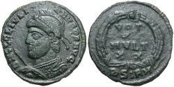 Ancient Coins - Julian II. A.D. 360-363. Æ. Sirmium, A.D. 361-363. VF, dark green patina.