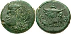 Ancient Coins - Thrace, Pantikapaion. Ca. late 4th-3rd centuries B.C. Æ 28 mm. VF, green patina.