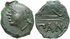 Ancient Coins - Cimmerian Bosporos, Pantikapaion. Ca. 304/3-250 B.C. Æ. VF, dark green-brown patina.