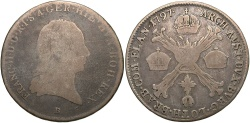 World Coins - Austrian Netherlands. 1797-B. 1/4 Kronenthaler. Fine.