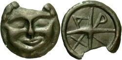 Ancient Coins - Thrace, Olbia. Ca. late 5th-4th centuries B.C. Æ 30 mm. Good VF, dark brown patina.