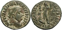 Ancient Coins - Licinius I. 308-324 AD. Silvered Reduced Follis. Alexandria.