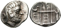 Kingdom of Persis. Unknown king I. 2nd century B.C. AR drachm. Good VF.