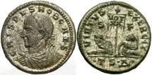 Crispus, Caesar. 316-326 AD. Silvered AE3. Thessalonica.