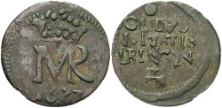 World Coins - Poland. Elbing. 1672. Solidus. VF.